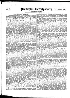 Provinzial-Correspondenz vom 07.02.1877