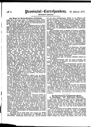 Provinzial-Correspondenz vom 28.02.1877
