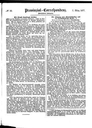 Provinzial-Correspondenz vom 07.03.1877