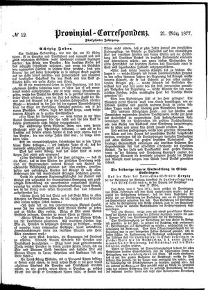 Provinzial-Correspondenz vom 21.03.1877