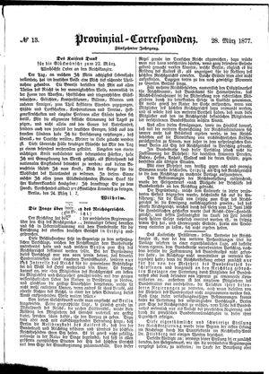 Provinzial-Correspondenz vom 28.03.1877