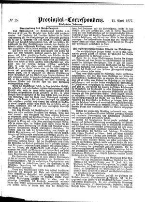 Provinzial-Correspondenz vom 11.04.1877