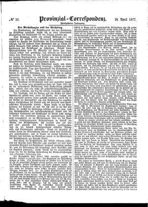 Provinzial-Correspondenz vom 18.04.1877