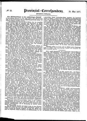 Provinzial-Correspondenz vom 30.05.1877