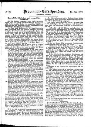 Provinzial-Correspondenz vom 13.06.1877