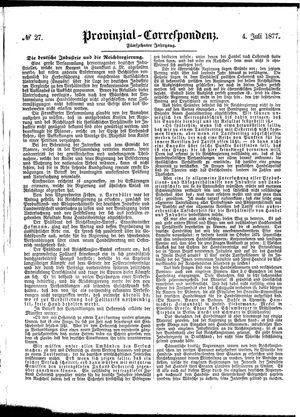Provinzial-Correspondenz vom 04.07.1877