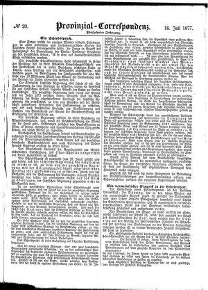 Provinzial-Correspondenz on Jul 18, 1877