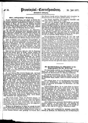 Provinzial-Correspondenz vom 25.07.1877