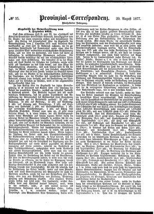 Provinzial-Correspondenz vom 29.08.1877