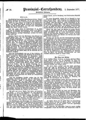 Provinzial-Correspondenz vom 05.09.1877