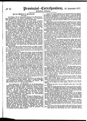 Provinzial-Correspondenz vom 26.09.1877