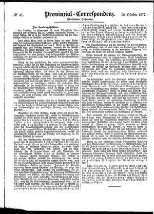 Provinzial-Correspondenz vom 10.10.1877