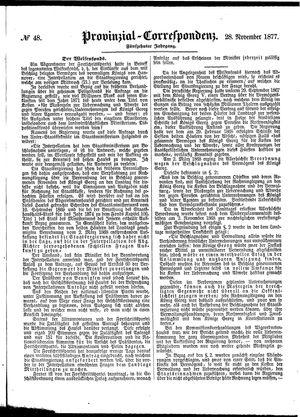 Provinzial-Correspondenz vom 28.11.1877
