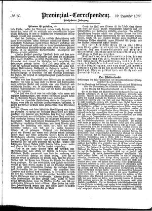Provinzial-Correspondenz vom 12.12.1877