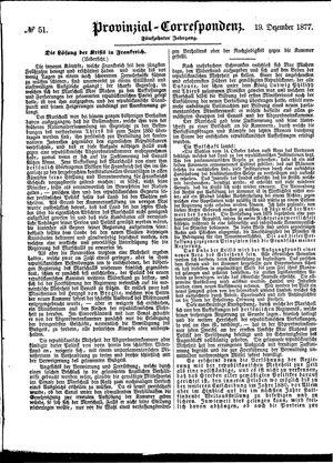 Provinzial-Correspondenz vom 19.12.1877
