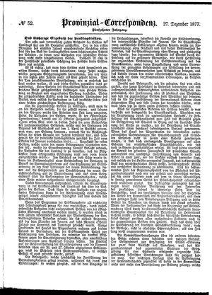 Provinzial-Correspondenz vom 27.12.1877