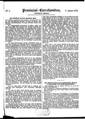 Provinzial-Correspondenz vom 03.01.1878