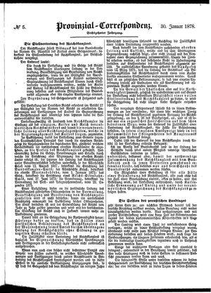 Provinzial-Correspondenz vom 30.01.1878