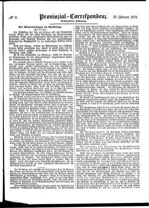 Provinzial-Correspondenz vom 27.02.1878