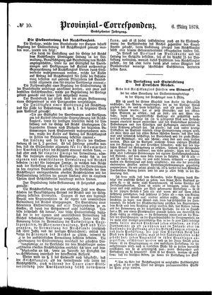 Provinzial-Correspondenz vom 06.03.1878