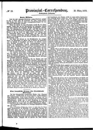 Provinzial-Correspondenz vom 20.03.1878