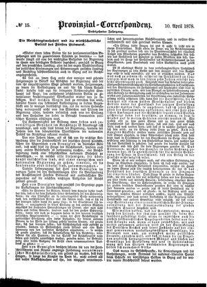 Provinzial-Correspondenz on Apr 10, 1878