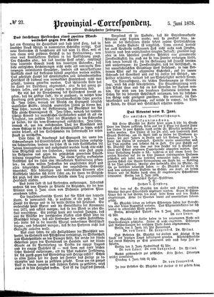 Provinzial-Correspondenz vom 05.06.1878
