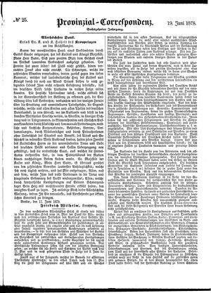 Provinzial-Correspondenz vom 19.06.1878