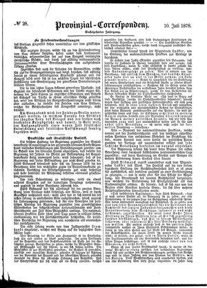 Provinzial-Correspondenz vom 10.07.1878
