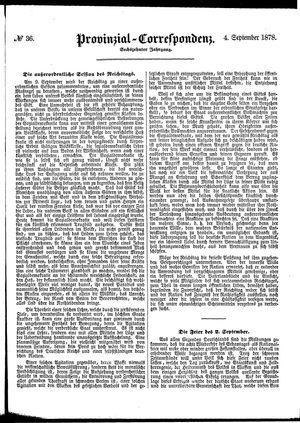 Provinzial-Correspondenz vom 04.09.1878