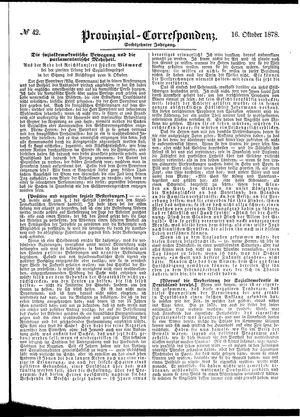 Provinzial-Correspondenz vom 16.10.1878