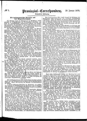 Provinzial-Correspondenz vom 29.01.1879