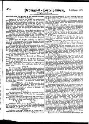 Provinzial-Correspondenz vom 05.02.1879