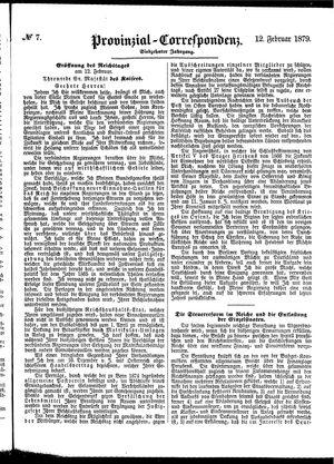 Provinzial-Correspondenz vom 12.02.1879