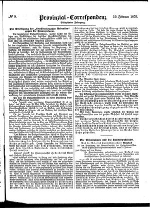 Provinzial-Correspondenz on Feb 19, 1879