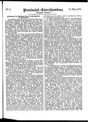 Provinzial-Correspondenz vom 12.03.1879