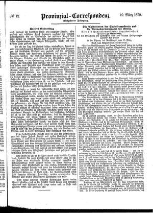 Provinzial-Correspondenz vom 19.03.1879