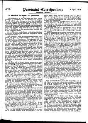 Provinzial-Correspondenz vom 09.04.1879