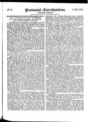 Provinzial-Correspondenz vom 08.05.1879