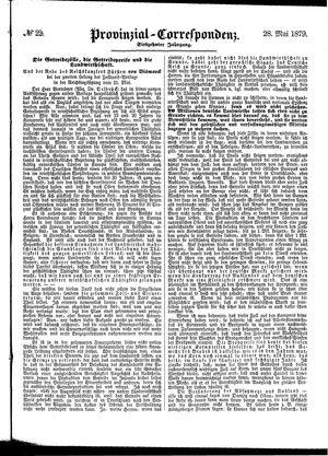 Provinzial-Correspondenz vom 28.05.1879