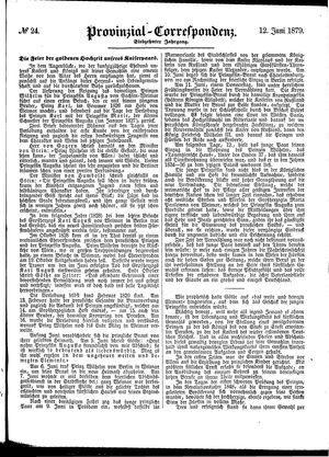 Provinzial-Correspondenz vom 12.06.1879
