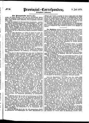 Provinzial-Correspondenz vom 09.07.1879