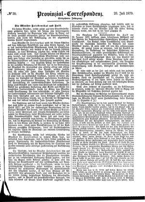 Provinzial-Correspondenz on Jul 23, 1879