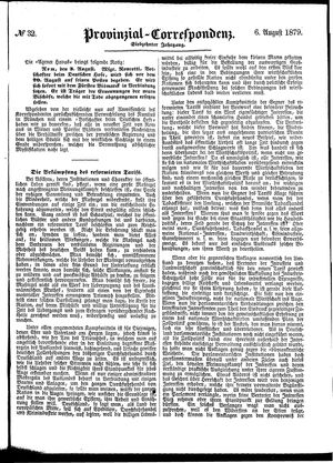 Provinzial-Correspondenz on Aug 6, 1879