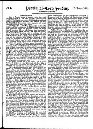Provinzial-Correspondenz vom 05.01.1881