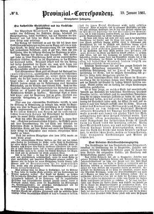 Provinzial-Correspondenz vom 19.01.1881