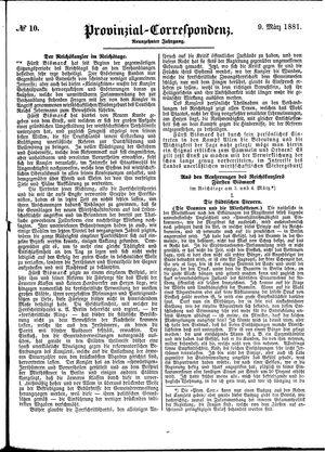 Provinzial-Correspondenz vom 09.03.1881