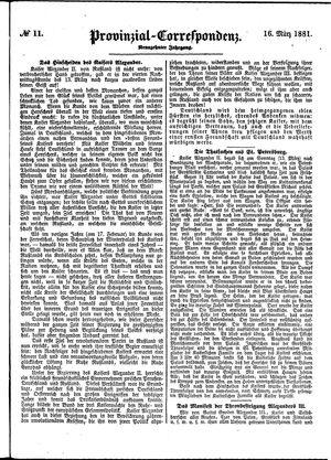 Provinzial-Correspondenz vom 16.03.1881