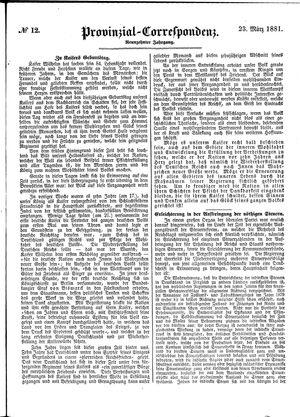 Provinzial-Correspondenz vom 23.03.1881