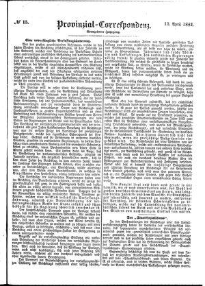 Provinzial-Correspondenz vom 13.04.1881